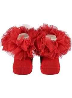 Minidamla Minidamla Kız Bebek Soket Çorap 0-3 Ay Kırmızı